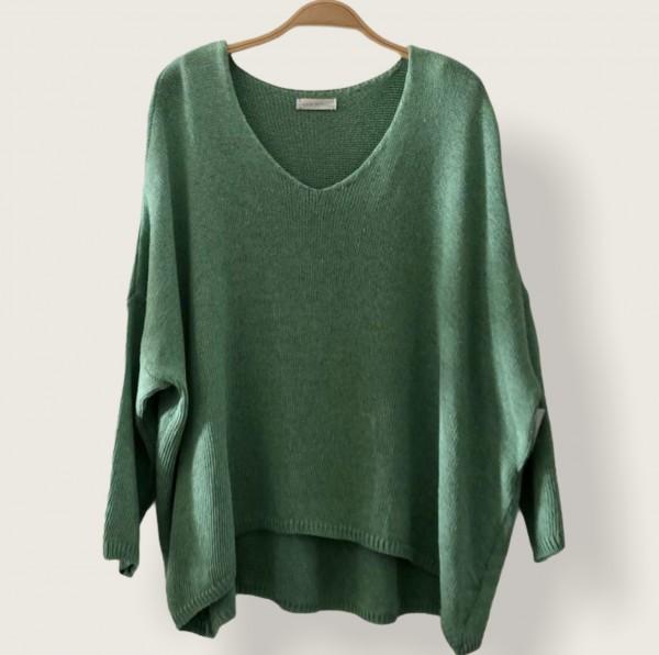 Pullover V-Ausschnitt weit