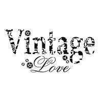 Schablone Vintage Love