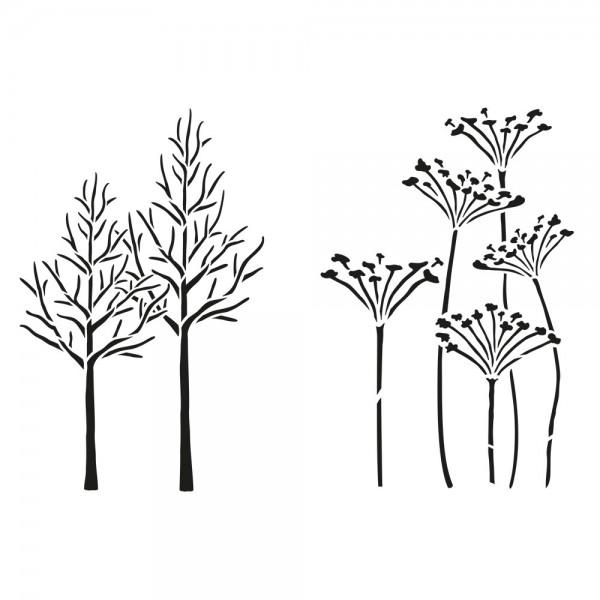 Schablone Bäumen- Bärenklau