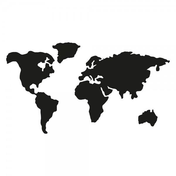 Schablone Weltkarte