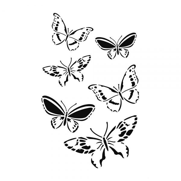 Schablone Schmetterlingen