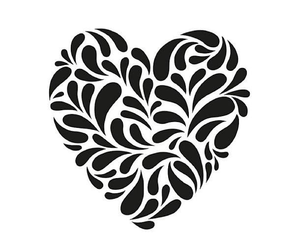 Schablone Herz