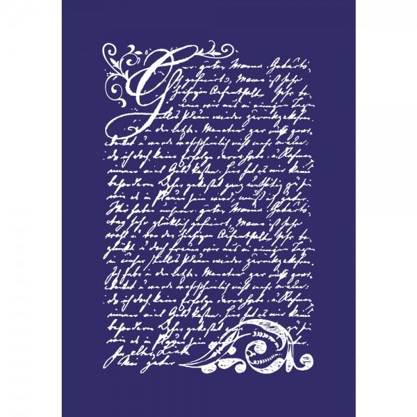 Siebdruck-Schablone Vintage Poesie