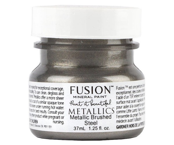 Fusion Mineral Paint Metallic Brushed Steel