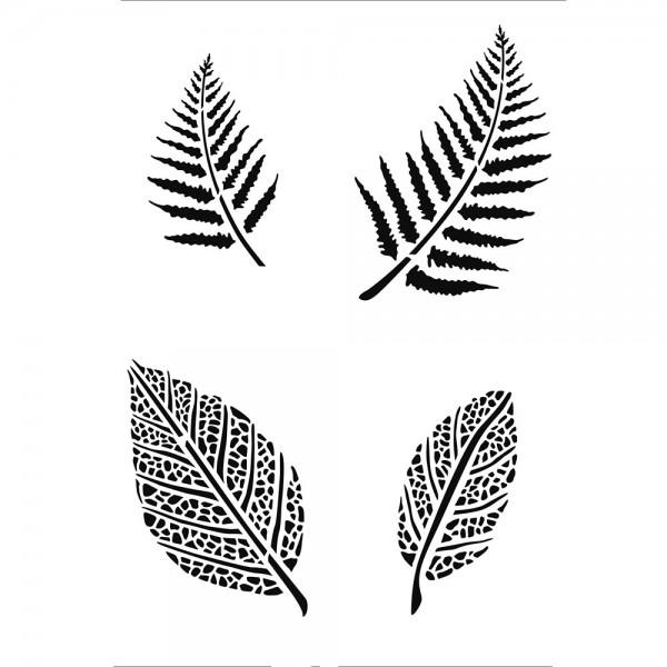 Schablone Blätter