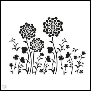 Schablone Blumenwiese