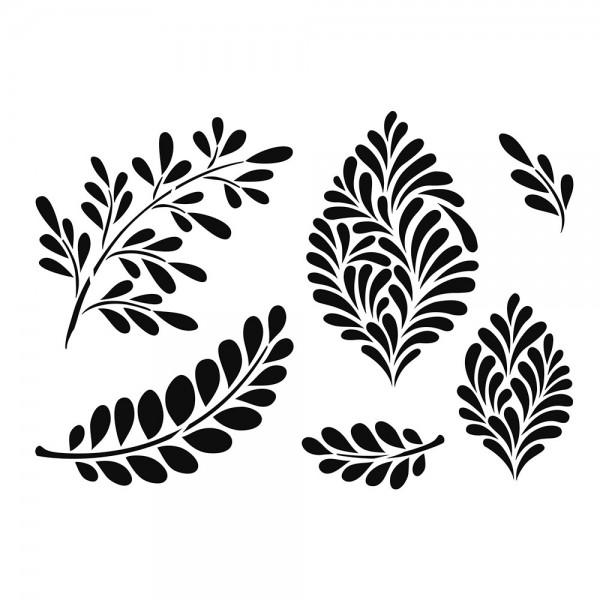 Schablone Moderne Blätter