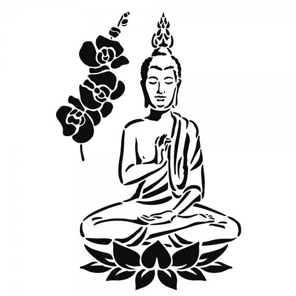 Schablone Buddha